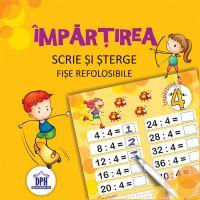 DPH3482_001w Carte Editura DPH, Scrie si sterge - Impartirea - fise refolosibile + carioca