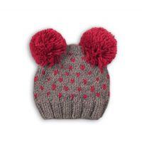 Caciula tricotata cu mot Minoti Hat, Gri M318X020