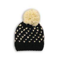 Caciula tricotata cu mot Minoti Hat, Negru M318X019