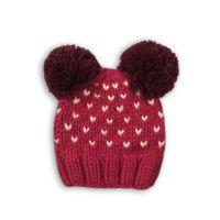Caciula tricotata cu mot Minoti Hat, Rosu M318X021