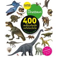 CADDIV124_001w Autocolante refolosibile, dinozauri - Editura Litera