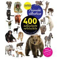 CADDIV125_001w Carte Editura Litera, Animale salbatice. 400 de autocolante refolosibile