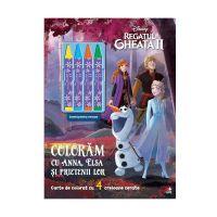CADDIV175_001 Carte Editura Litera, Coloram cu Anna, Elsa si prietenii lor, Disney Frozen 2