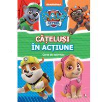 CADDIV177_001w Carte Editura Litera, Patrula Catelusilor, Catelusi in actiune, Carte cu activitati