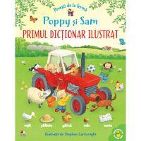 CADDIV195_001w Carte Editura Litera, Povesti de la ferma. Poppy si Sam. Primul dictionar ilustrat