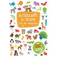 CADDIV198_001w Carte Editura Litera, Autocolante cu sclipici. Pui de animale