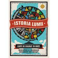 CADDIV43_001w Carte Editura Litera, Istoria lumii. Carte de colorat cu harti
