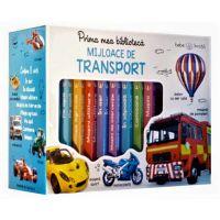 CARTBI30_001w Carte Editura Litera, Prima mea biblioteca ilustrata. Mijloace de transport. Bebe invata, Cutie cu 8 carticele
