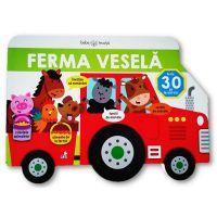 CARTBI97_001w Carte Editura Litera, Bebe Invata, Ferma vesela, Carte cu ferestruici