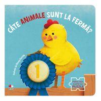 CARTDIV43_001w Carte Editura Litera, Cate animale sunt la ferma Carte cu puzzle