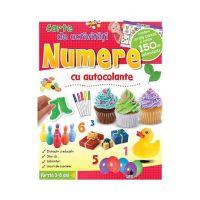 CCA189_001 Carte de activitati cu autocolante Editura Litera, Numere