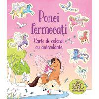 CCADIV35_001w Carte Editura Litera, Ponei fermecati. Carte de colorat cu autocolante