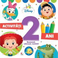 CDDB07_001w Activitati pentru 2 ani, Disney, Deseneaza, Coloreaza, Numara
