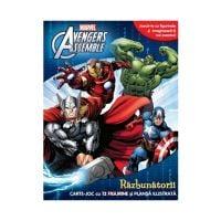 CDJ49_001w Carte joc cu figurine Marvel Avengers Assemble, Razbunatorii