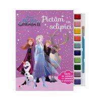 CDJ71_001 Carte cu acuarele si glitter Disney Frozen 2 - Pictam cu sclipici