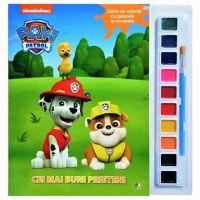 CDJ76_001 Carte de colorat cu pensule si acuarele. Cei mai buni prieteni Paw Patrol
