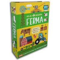 CEDIV85_001w Carte Editura Litera, Ma joc si descopar ferma, carte cu puzzle