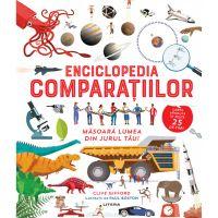 CEDIV99_001w Carte Editura Litera, Enciclopedia comparatiilor masoara lumea din jurul tau! Clive Gifford