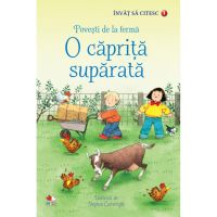CEDUS01_001w Carte Editura Litera, Invat sa citesc. Povesti de la ferma. O caprita suparata, nivelul 1
