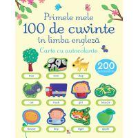 CEDUS11_001w Carte Editura Litera, Primele 100 de cuvinte in limba engleza. Carte cu autocolante