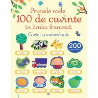 CEDUS12_001w Carte Editura Litera, Primele 100 de cuvinte in limba franceza. Carte cu autocolante