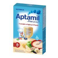Cereale Aptamil Nutricia 3 cereale si 3 fructe