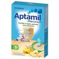 Cereale Aptamil Nutricia cu porumb, orez si banane