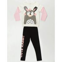 20204111 Set bluza si pantaloni sport Cute Rabbit Denokids