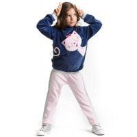 20204115 Set bluza si pantaloni sport Pink Cat Denokids