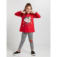 20204160 Set bluza si colanti Ladybug Denokids