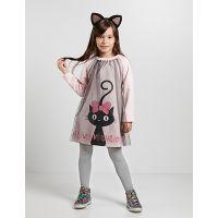 20204166 Rochie cu maneca lunga Love Black Cat Denokids