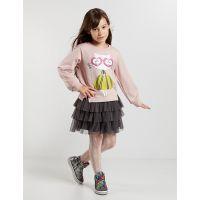 20204168 Set bluza si fusta cu volane Ballerina Cat