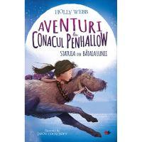 CFS69_001w Carte Editura Litera, Aventuri la conacul Penhallow. Statuia din bataia lunii, Holly Webb