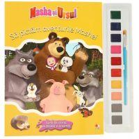 CMASAD07_001 Carte de colorat cu pensula si acuarele. Masha si ursul Sa pictam aventurile Mashei