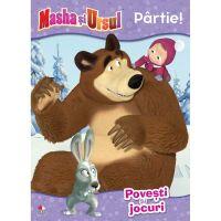 CMASAD10_001w Carte Editura Litera, Masha si Ursul. Partie! Povesti si jocuri