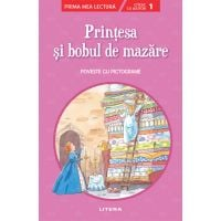 CPBPML159_001w Carte Editura Litera, Printesa si bobul de mazare, Poveste cu pictograme