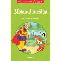 CPBPML160_001w Carte Editura Litera, Motanul incaltat, Poveste cu pictograme