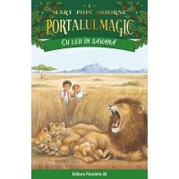 Cu leii in savana. Portalul magic nr. 11, Mary Pope Osborne