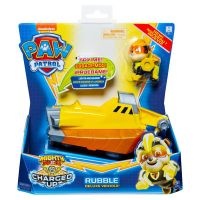 6055753_003w Figurina cu vehicul Paw Patrol Deluxe Vehicle Mighty Pups, Rubble 20121274