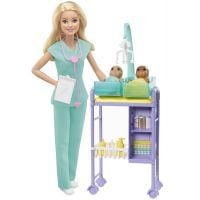 DHB63_006w Set de joaca Barbie, Doctorul pediatru, GKH23