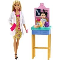 DHB63_011w Set de joaca Barbie, Doctor pediatru, GTN51