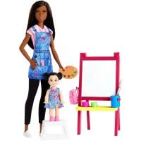 DHB63_012w Set Barbie, Art Teacher, GJM30