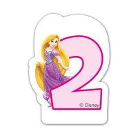 Disney Princess - Lumanare pentru tort cifra 2