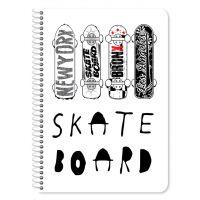 DK000042083_001w Caiet dictanto cu spirala Must Skateboard, 17 x 25 cm