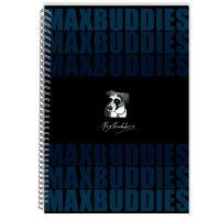 DK000042099_001w Caiet dictando cu spirala Max Buddies A4, 64 file