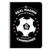 DK000170820_001w Caiet diactando cu spirala Real Madrid, 60 file, 17 x 25 cm