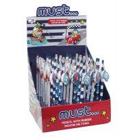 DK000579595_001w Creion cu guma de sters si breloc, Must