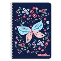DK000579870_001w Caiet dictando cu spirala Must Butterfly, 17 x 25 cm