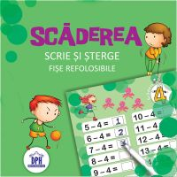 DPH3505_001w Carte Editura DPH, Scrie si sterge - Scaderea - fise refolosibile + carioca