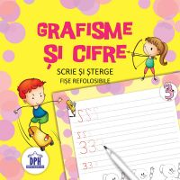 Carte Editura DPH, Scrie si sterge - Grafisme si cifre - fise refolosibile + carioca